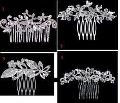 Grzebyk ślubny 4 wzory Ozdoba do włosów