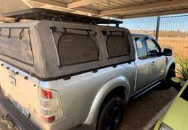 2008-11 FORD RANGER/MAZDA BT-50 SUPCAB CANOPY WITH CANVAS AND ROOFRACK