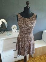 Mini letnia rozkloszowana sukienka w panterkę Atmosphere Zara Orsay 40