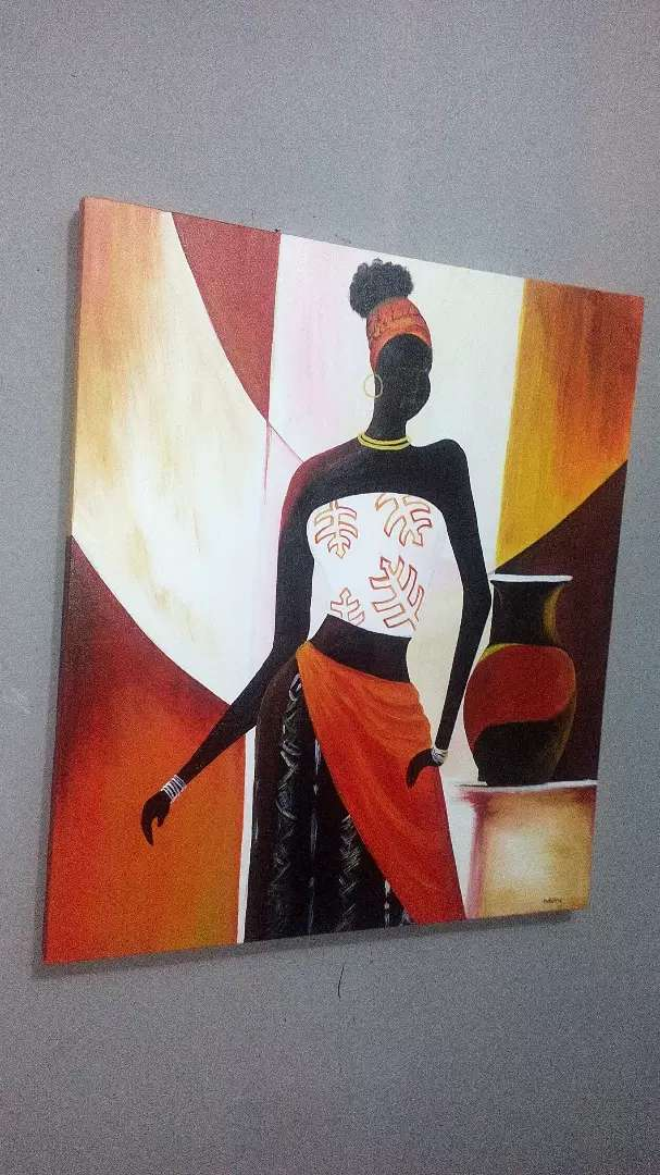 African woman painting 0