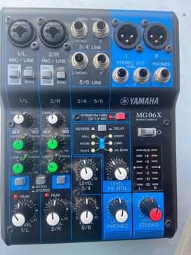 BLACK SALE (Yamaha Mixer) NEW!! MG06X