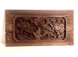 Rzeźba, relief w drewnie, Chiny, koniec XIX w.