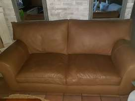 Leather 2 seater couch