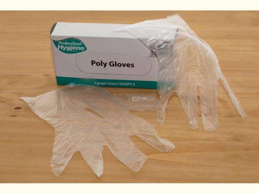 disposable clear polythene gloves 0