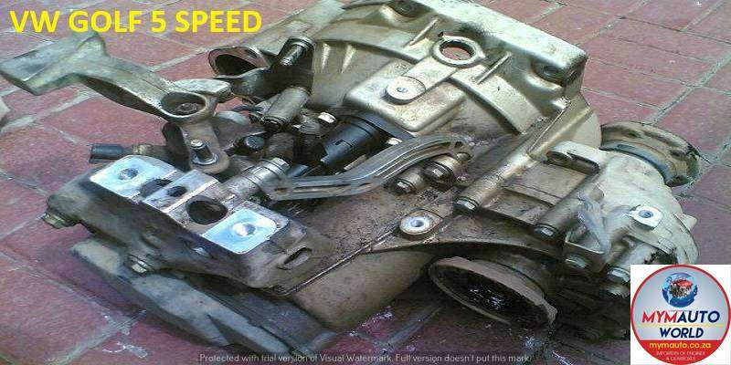 IMPORTED USED VW GOLF 5 SPEED GEARBOX FOR SALE AT MYM AUTOWORLD 0
