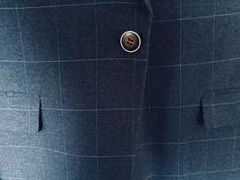 Navy suit one button ( slim fit)