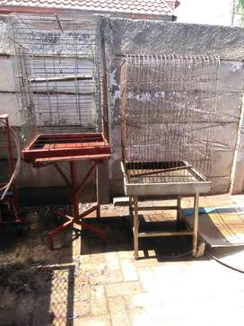 2 parrot bird cages for sale