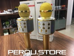 Оригинальный беспроводной караоке микрофон - колонка 2в1 Wster WS-858