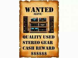 WANTED: Looking For Used AV/ Stereo Gear