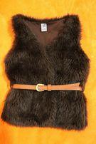 Меховая модная жилетка жилет безрукавка