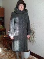 Зимнее пальто нат.мех песец,раз.50-52
