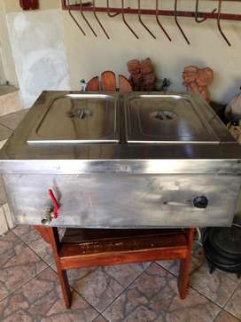 Bain Marie two division, electrical, table top in perfect order