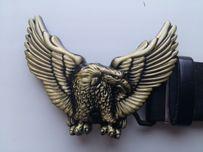 Рукоделие коллекция Пряжка бляха Золотой Орел птица на ремень пояс
