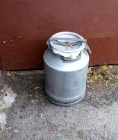 Бидон алюминиевый 40л, для меда , молока,воды или других веществ. Чист