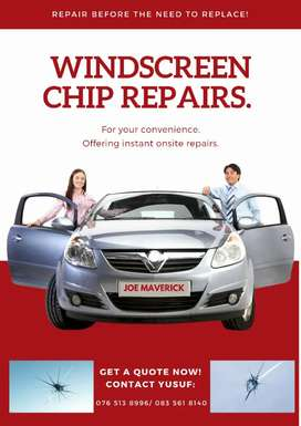 Windscreen chip repaits