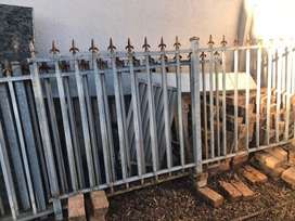 Steel fencing sections