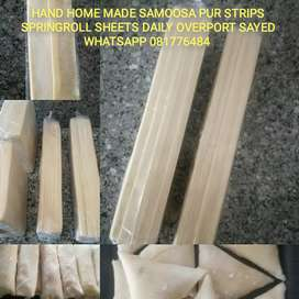 HAND home made Samoosa Pur strip's Spring roll sheets daily Overport