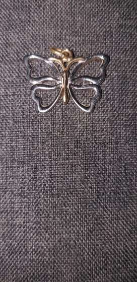 Pendant Butterfly Pendant two tone gold jewelry