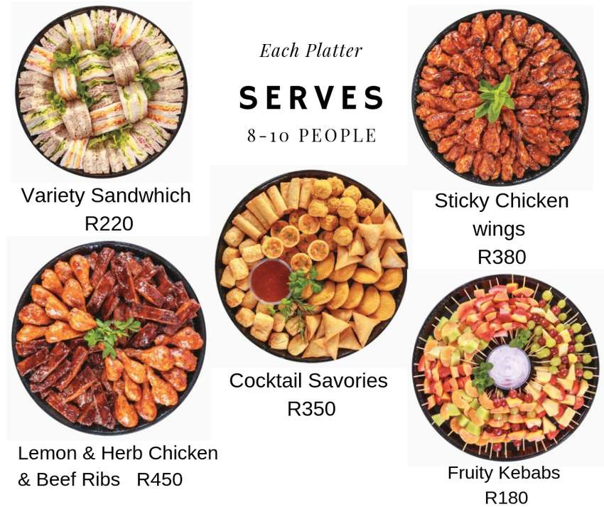Affordable Platters with FREE DELIVERY in Cape Town- budget catering! 0