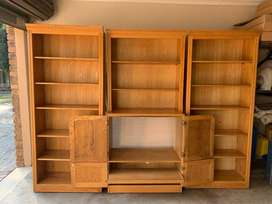 TV display with 2x Book Cases, matching