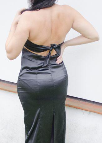 Suknia wieczorowa długa motyl, wiązanie na plecach; studniówka, bal Sławków - image 3