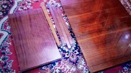 Стол обеденный полированный времен ссср, раскладной