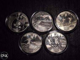 Монеты НБУ Евро-2012: Финал, Киев, Львов, Донецк, Харьков