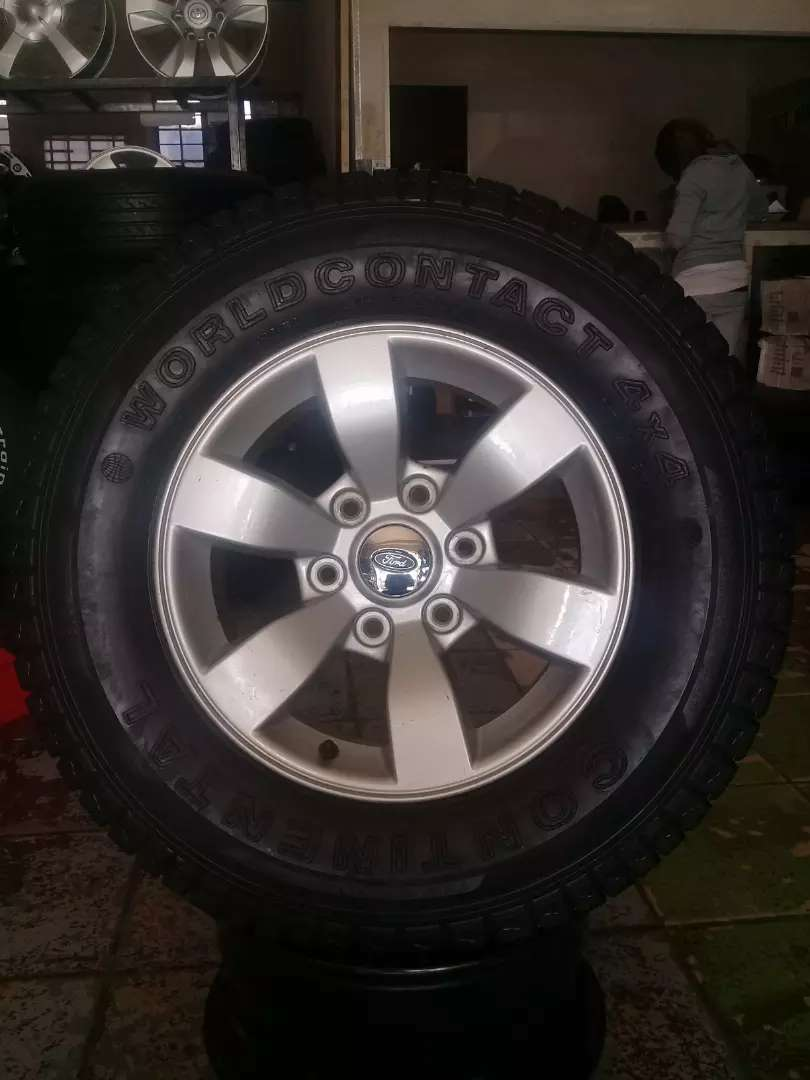 FORD RANGER 16 INCH MAG/TYRE FOR SPARE WHEEL.