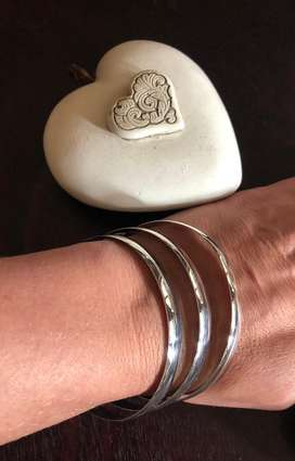Sterling Silver - 8mm Bangles - R650 each of R1,800 for for set of 3