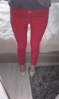 Czerwone dopasowane spodnie Orsay rozm. 38