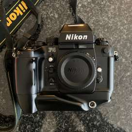 Nikon F4s 35mm Film Camera with Lenses and Speedlight