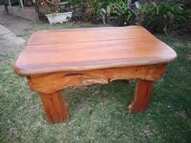 Medium sized wooden bedside table.
