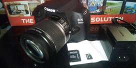 Canon 1200D Camera, 32G memory card ,18-55MM Lens and blue Tripod