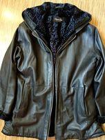 Женская кожаная (натуральная) зимняя куртка