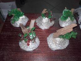 Skałki z kompozycją rośliną i korzenną ok 10cm