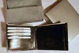 OKAZJA! - Elegancki portfel skórzany – czarny - idealny na prezent