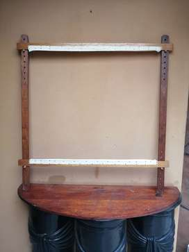 Nice, large wooden tapestry / canvas stretch frame.
