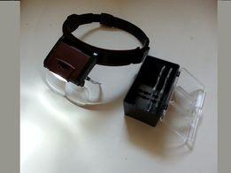 Лупа, Бинокуляр, очки бинокулярные со светодиодной подсветкой