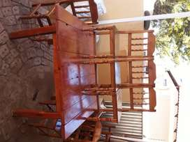 Eating table with 8 chairs