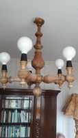 lampa drewniana rzeźbiona