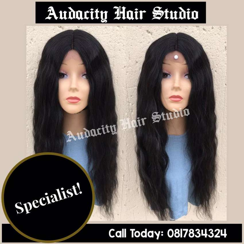 Synthetic wave wig with front lace