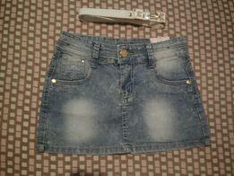 Новая джинсовая юбочка для девочки + подарок поясочек