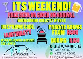 Cheap Accommodation Special, Green Point, Cape Town, Backpackers