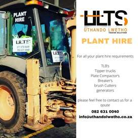 Tlb and tipper trucks for hire