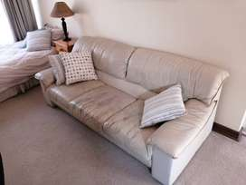 Leatherette couch