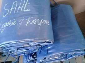 9M X 9M HEAVY DUTY PVC COVERS/TARPAULINS AND CARGO NETS