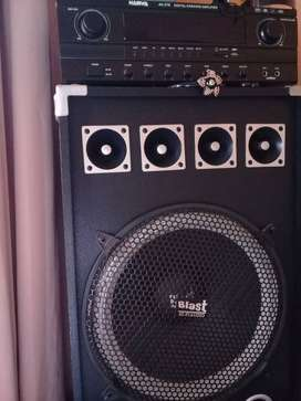 Harwa amp 15' blast speakers