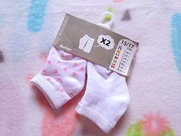 NOWE dwie pary skarpetek dla noworodka 3-6m sprzedam lub zamienię