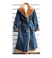 Jeansowy płaszcz z kołnierzem