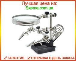 Третья рука для пайки JM-508 держатель плат с подставкой для паяльника